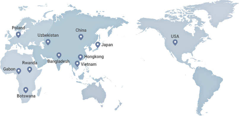Global Presence 11 Overseas Branches / 3 Overseas Offices / 10 Project Offices map - See the Global Presence page for more information